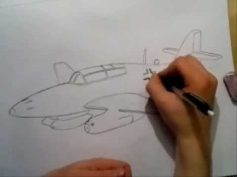 videos of how to draw fighter jets