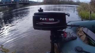 Краткий обзор лодочного мотора   Parsun T2.6C BMS  Тест на воде.