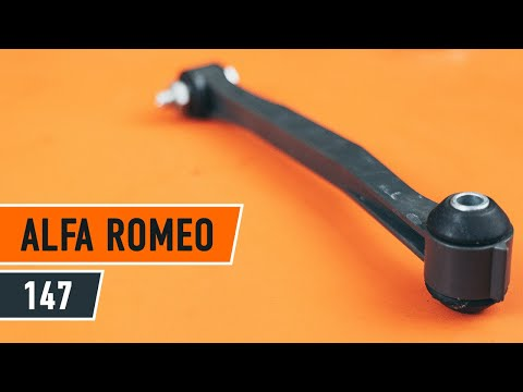 How to replace rear Anti Roll Bar Link on ALFA ROMEO 147 TUTORIAL | AUTODOC