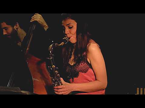 MELISSA ALDANA TRIO plays 'I got it bad (and that's no good)'/'Perdón' live at Jimmy Glass Jazz Bar