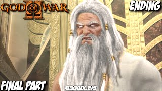 GOD OF WAR 2 GAMEPLAY WALKTHROUGH PART 12 ZEUS FINAL BOSS FIGHT & ENDING - PS3 LET'S PLAY