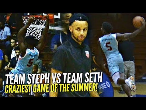 Team STEPH CURRY vs SETH CURRY Ends w/ CRAZY GAME WINNER!! Cole Anthony & Anthony Edwards GO CRAZY!