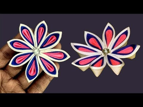 Clothes Flower Making How To Make Flowers With Cloth And Ribbon