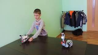 Робот Lego Mindstorms EV3 на пульте управления. Слобода IT.