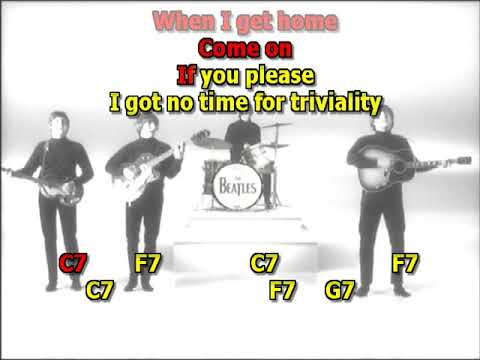When I get home Beatles mizo vocals lyrics chords