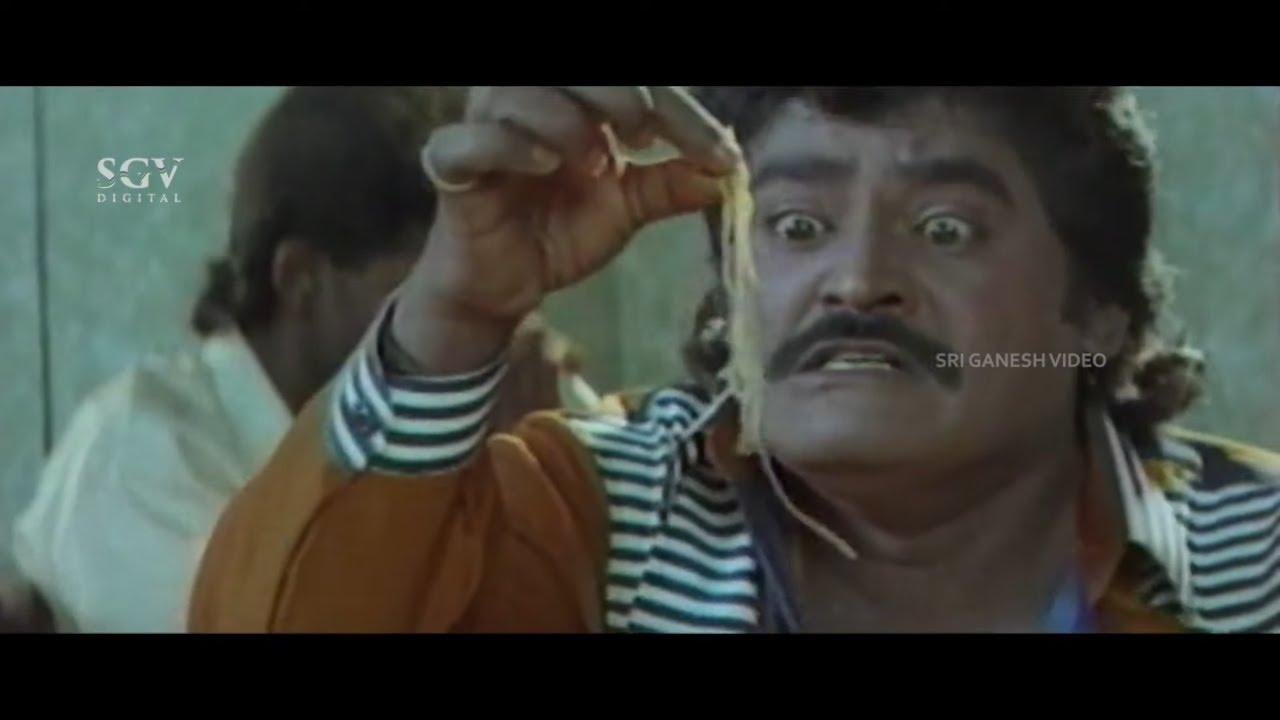 Jaggesh Eating Noodles Comedy Scene   Pattanakke Banda Putta Kannada Movie