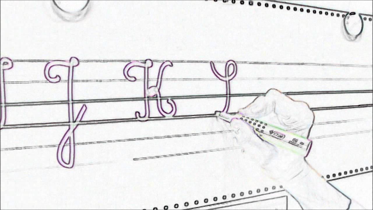 Alphabet cursif majuscule youtube - H en majuscule ...