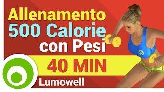 Brucia 500 Calorie - Allenamento con Pesi per Dimagrire e Tonificare