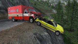Crashing Cars & Saving Lives On Cliff Roads Scenarios - BeamNG.drive