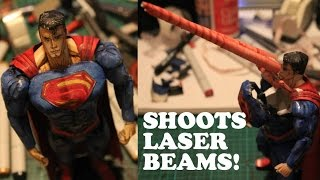 Superman Paper Toy - SHOOTS LASER BEAMS! 100% Paper!