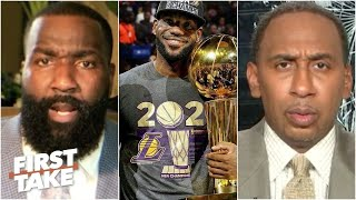 FIRST TAKE | Stephen A. GOES crazy Kendrick Perkins insist: LeBron's 4th NBA title make him the GOAT