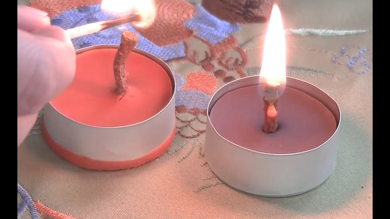 Crayon Candle - DIY - How to make a candle out of crayons - YouTube