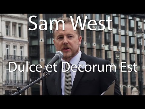 Actor Sam West reads Dulce et Decorum Est
