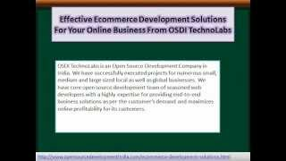 Effective Ecommerce Development Solutions For Your Online Business