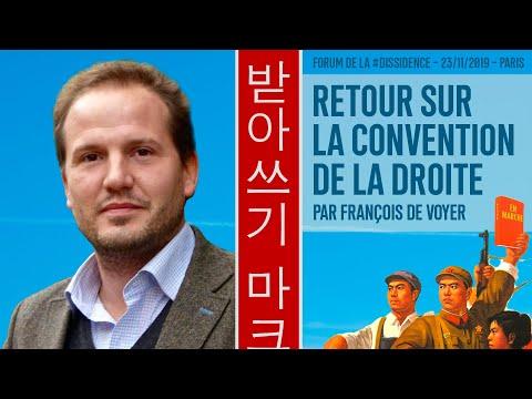 Le succès de la Convention de la Droite - François de Voyer au Forum de la Dissidence 2019