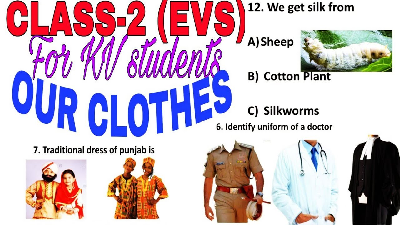 Quiz Test Yourself Our Clothes Class 2 Evs Question Answers Worksheets Youtube