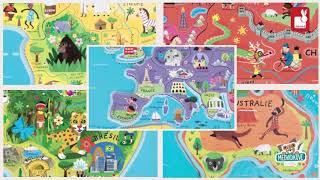 Magnetická mapa světa Magnetic World Puzzle Englis