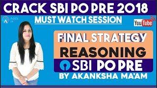 SBI Clerk PRE |Final Strategy For Reasoning for Sbi Pre |Akanksha mam