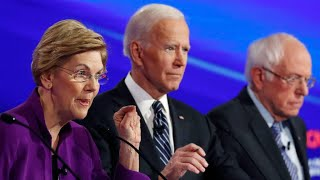 Bernie Sanders,Elizabeth Warren and Joe Biden