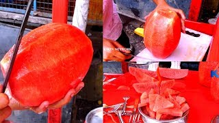 Watermelon Cutting    KIKTV Network    Indian Street Food