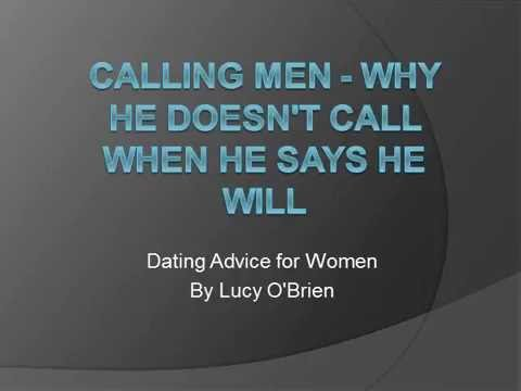 Calling Men   Why He Doesnt Call When He Says He Will
