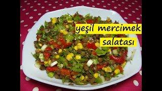 yeşil mercimek salatası - lezzet dünyası
