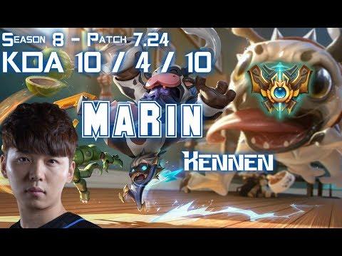 MaRin KENNEN vs MALPHITE Top - Patch 7.24 KR Ranked