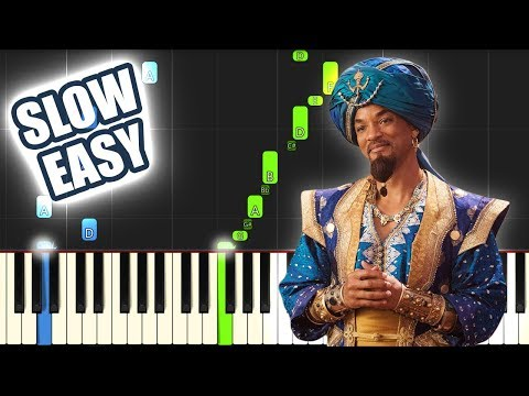 Friend Like Me - Aladdin 2019 | SLOW EASY PIANO TUTORIAL + SHEET MUSIC by Betacustic thumbnail