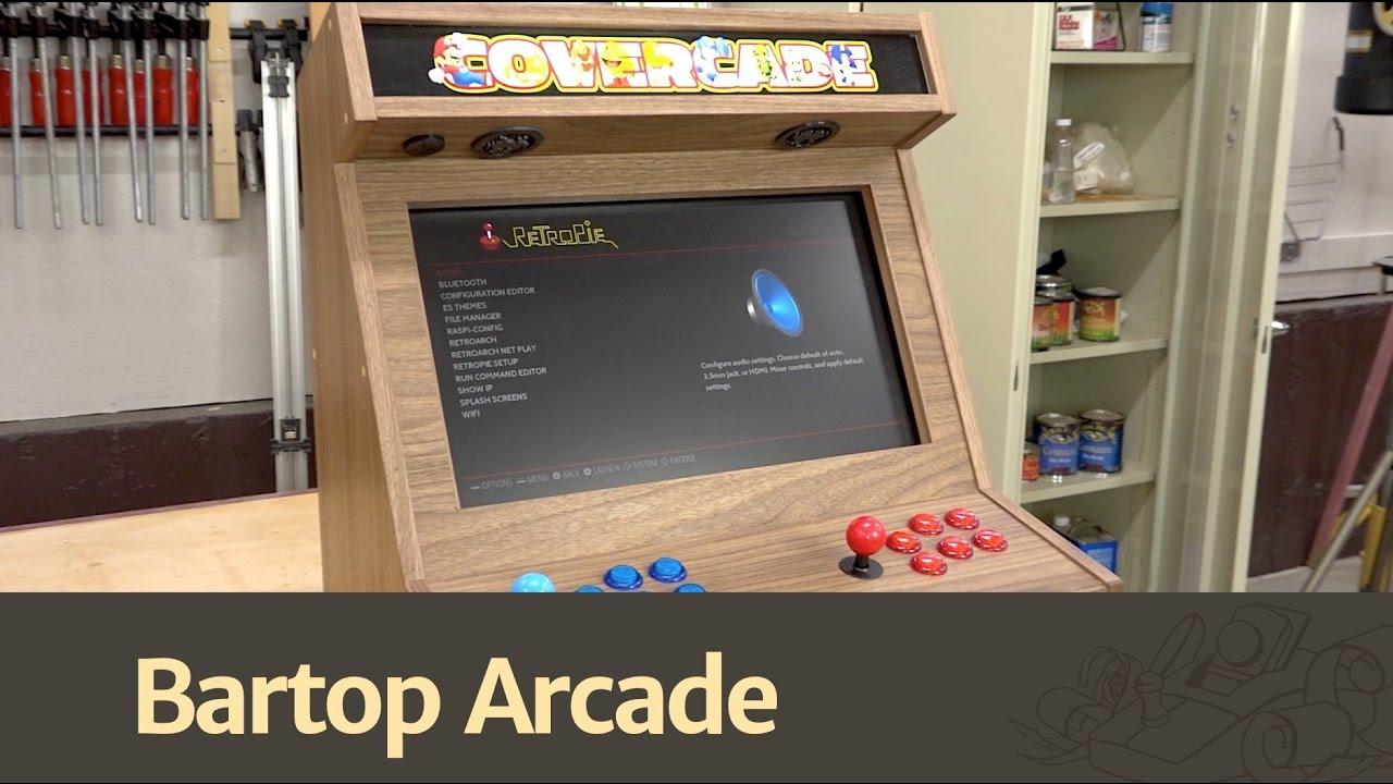 Bartop Arcade w/ Raspberry Pi - YouTube