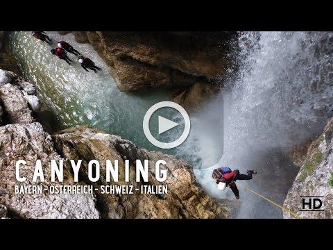 CANYONING Bayern-Österreich-Schweiz-Italien 2016 www.echt-posch.de