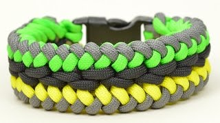 How to make a Modified Sanctified Paracord Survival Bracelet - BoredParacord.com