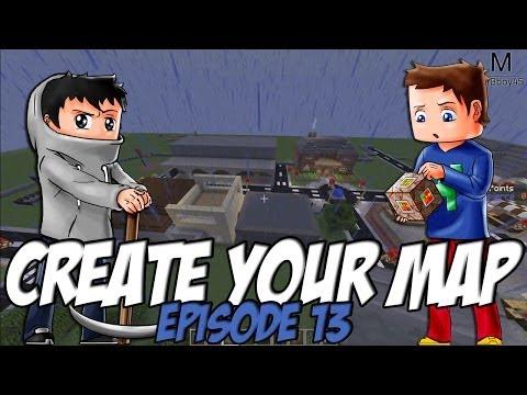 Create Your Map | Coiffeur et La librairie | Episode 13 / Minecraft