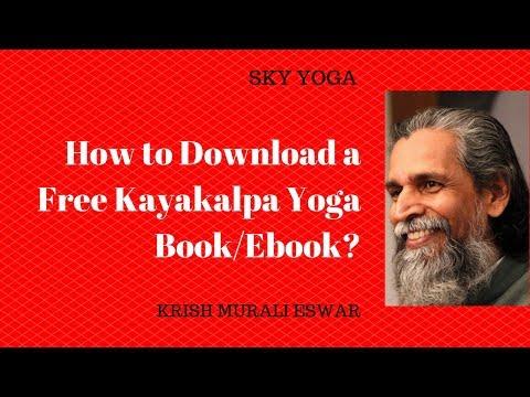 How To Download A Free Kayakalpa Yoga Book/ebook?