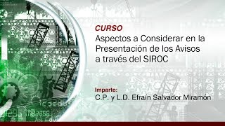 Aspectos a Considerar en la Presentación de los Avisos a Través del SIROC