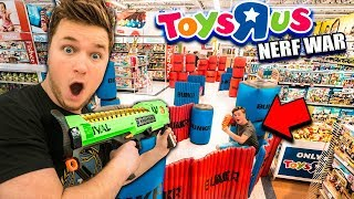 TOYS R US Nerf War! Ultimate 24 Hour Fort Building Challenge (BUNKR BATTLE)