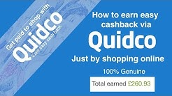 How to earn easy cash back through Quidco when you shop online.