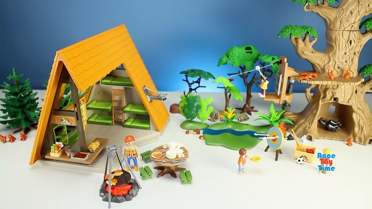 New 2017 playmobil camping lodge building playset and wild - Toute les maison playmobil ...
