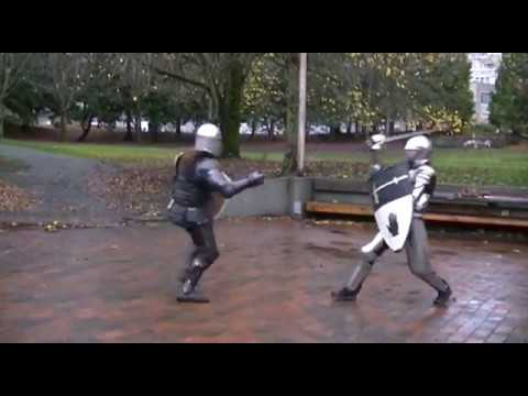 Medieval Combat Training - Sir Avery, Sir Derek & Samael (HMB/ACL/IMCF, 3 of 3)