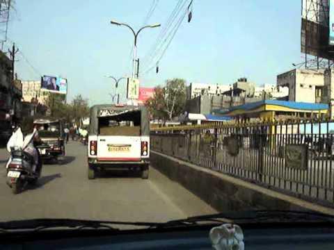 Passing through Raipur City.