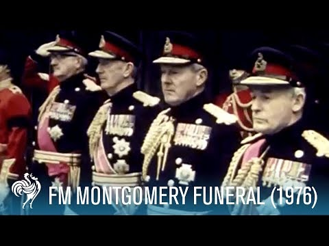 Funeral Of Field Marshal Montgomery aka 'Monty' (1976) | British Pathé