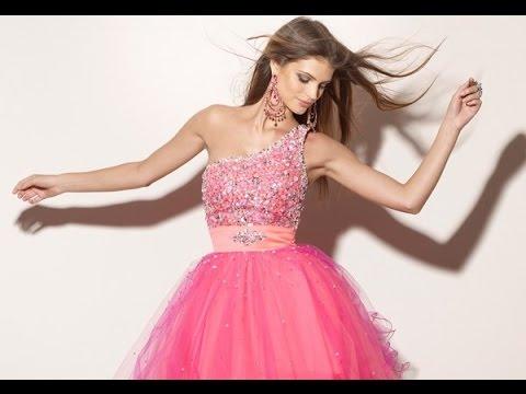 c73498322 Lindos Vestidos cortos de 15 Años - Colección Fiesta 2015 ♥ - YouTube