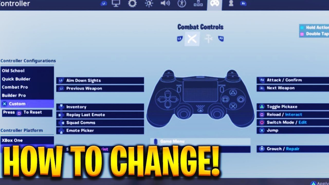 😍 Fortnite ps4 controller keybinds | The Best Fortnite