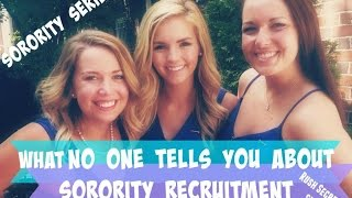 What No One Tells You About Sorority Recruitment (RUSH) | Madison Michelle