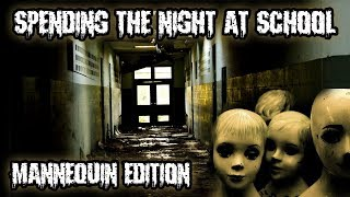 HAUNTED MANNEQUIN! SPENDING THE NIGHT IN UNDERGROUND SCHOOL TUNNEL! TURNS INTO A RESCUE FOR TOMY!