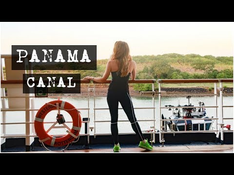 """A very """"good morning"""" on the Panama canal - MS Westerdam 