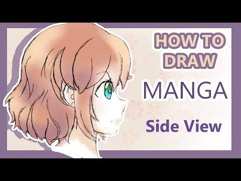 How To Draw Manga! Kawaii Girl's Face Side View