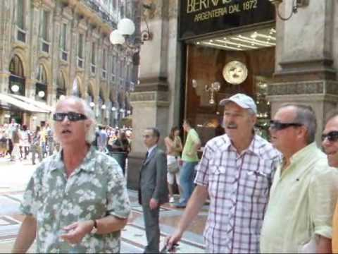 a song for shoppers in Milan