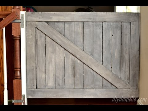 how to build a farmhouse baby gate youtube. Black Bedroom Furniture Sets. Home Design Ideas