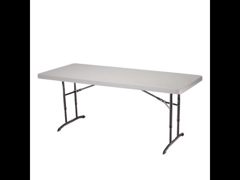 2920 6-Foot Commercial Adjustable Height Folding Table
