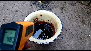 Пиролиз старого рубероида (эксперимент №20)